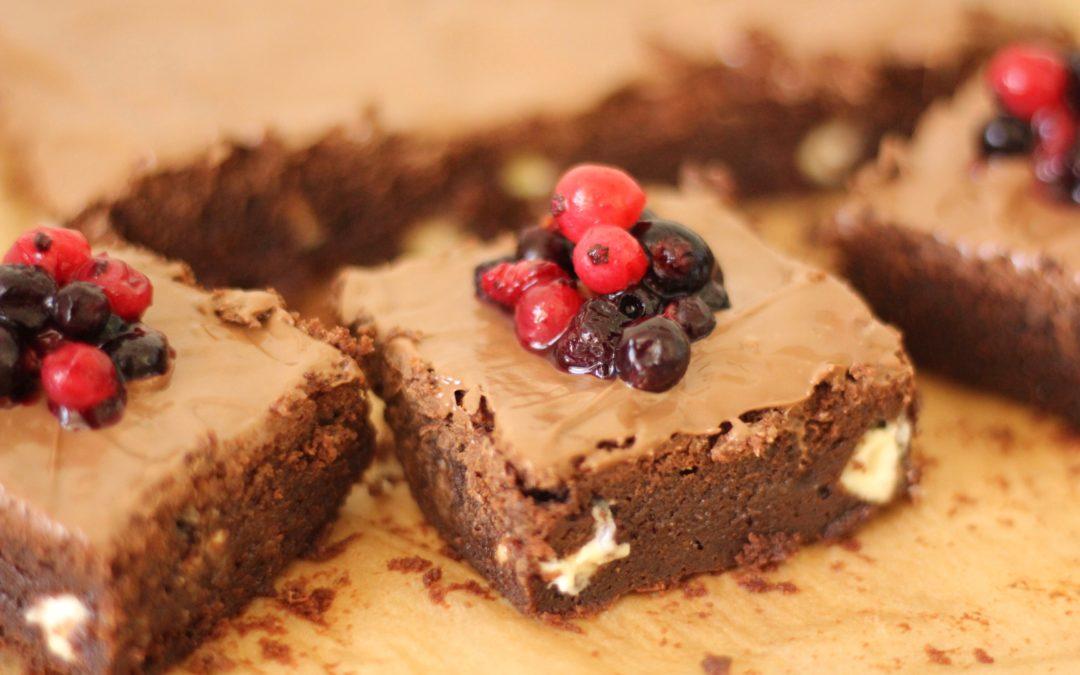 Üç Çikolatalı Amerikan Brownie